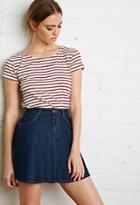 Forever21 Boxy Nautical Striped Tee