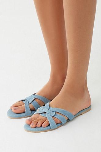 Forever21 Denim Strappy Sandals