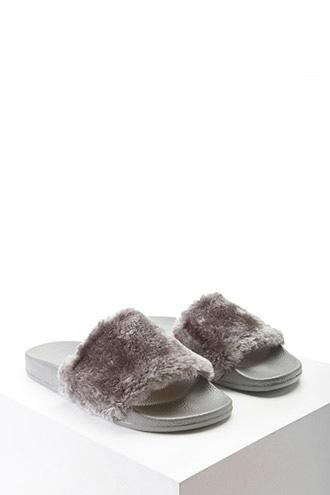 Forever21 Faux Fur Slides