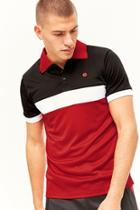 Forever21 Elbowgrease Athletics Colorblock Polo