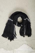 Forever21 Men Plaid Open-knit Fringe Scarf