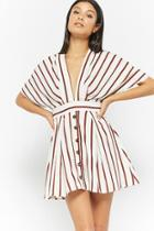Forever21 Striped Plunging Mini Dress