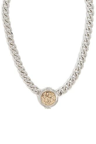 Forever21 Etched Angel Chain Necklace