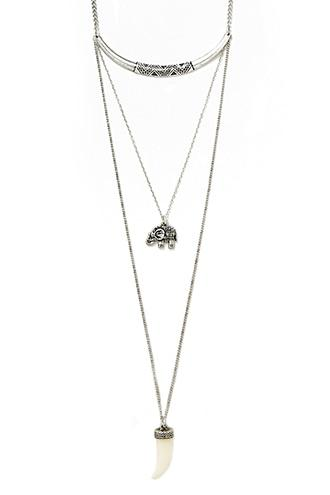 Forever21 Elephant Pendant Necklace