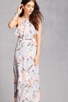 Forever21 Floral Halter Maxi Dress