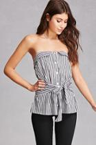 Forever21 Striped Strapless Top