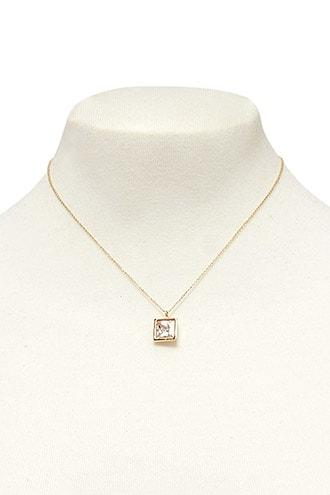 Forever21 Cz Stone Pendant Necklace