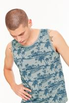 Forever21 Ocean Current Tropical Tank Top