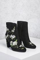 Forever21 Faux Suede Embroidered Boots