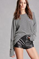 Forever21 Ribbed Knit Striped Top