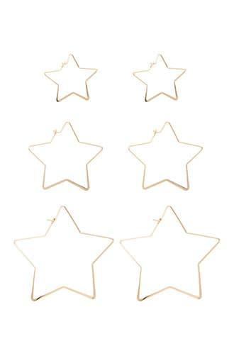 Forever21 Star Hoop Earring Set