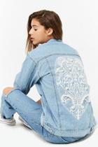Forever21 Faux Pearl Denim Jacket