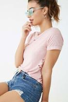 Forever21 Distressed Heathered Tee