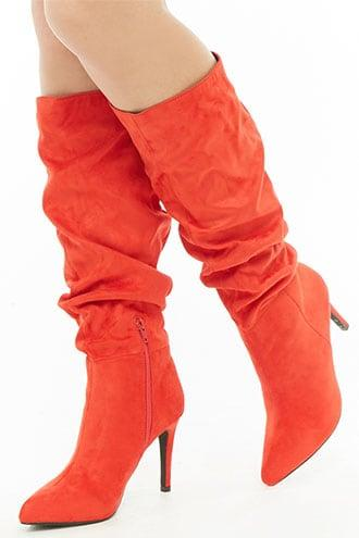 Forever21 Good Choice Slouchy Stiletto Boots