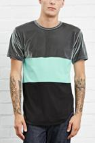 21 Men Men's  Eptm. Velour Colorblock Tee