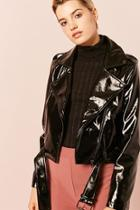 Forever21 Faux Patent Leather Jacket