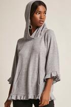 Forever21 Hooded Ruffle Top