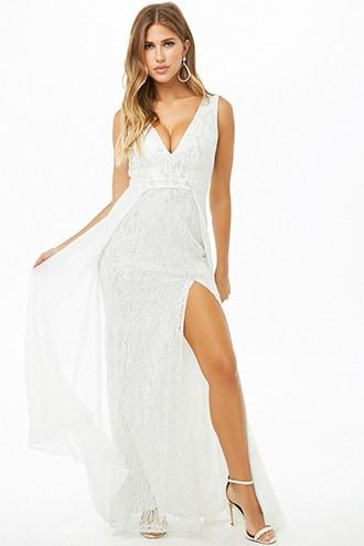 Forever21 Metallic Mesh Gown