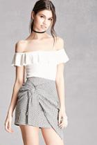 Forever21 Gingham Ruched Mini Skirt
