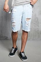 Forever21 Destroyed Cuffed Denim Shorts