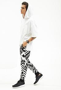 Forever21 Abstract Zig Zag Sweatpants