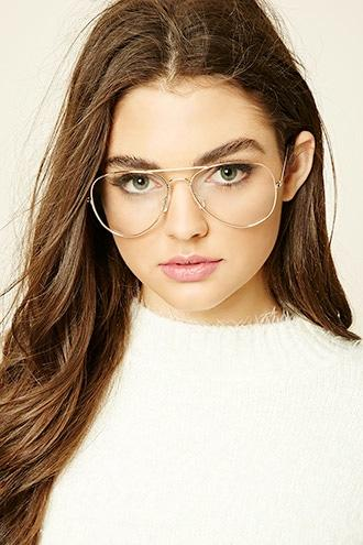 Forever21 Clear Aviator Readers