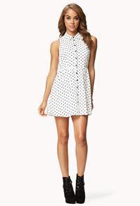 Forever21 Polka Dot Shirt Dress