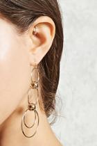 Forever21 Tiered Hoop Drop Earrings