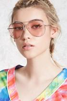 Forever21 Neon Tinted Aviator Sunglasses