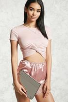 Forever21 Reflective Faux Leather Clutch