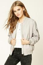 Forever21 Women's  Faux Fur-lined Bomber Jacket