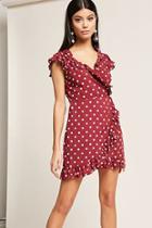 Forever21 Motel Polka Dot Wrap Dress
