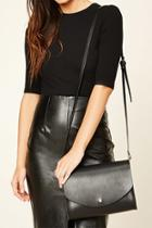 Forever21 Black Faux Leather Crossbody Bag