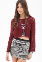Forever21 Crochet Knit Top