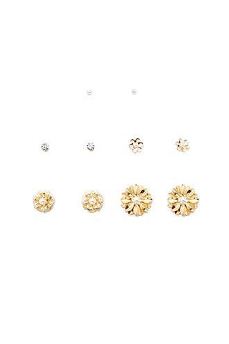 Forever21 Floral Stud Earrings Set