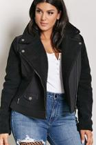 Forever21 Plus Size Faux Shearling Moto Jacket