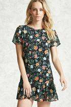 Forever21 Floral Ruffled Dress