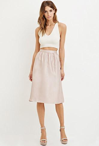 Love21 Sheeny A-line Skirt