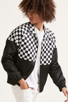 Forever21 Checkered-panel Track Jacket