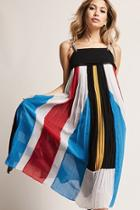 Forever21 Pleated Colorblock Maxi Dress