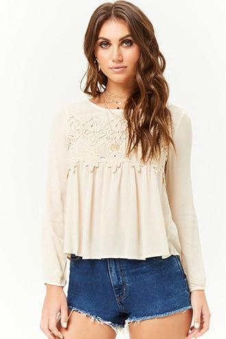 Forever21 Lace Overlay Top