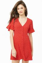 Forever21 Abstract Dot Fit & Flare Dress