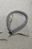21 Men Grey Men Braided Cord Bracelet
