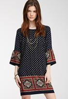 Love21 Abstract Medallion Shift Dress