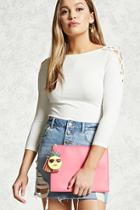 Forever21 Faux Leather Pineapple Clutch