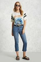 Forever21 Contemporary Embroidered Jeans