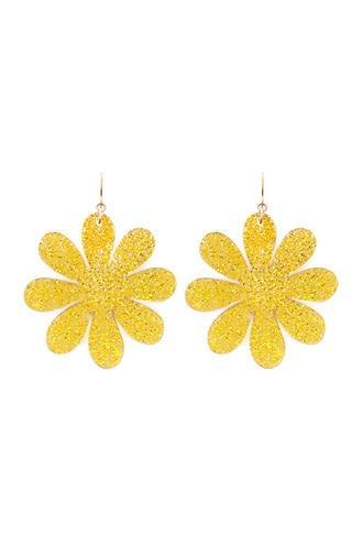 Forever21 Glitter Floral Earrings