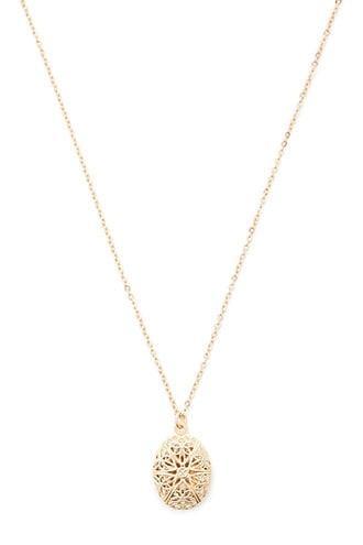 Forever21 Filigree Locket Pendant Necklace