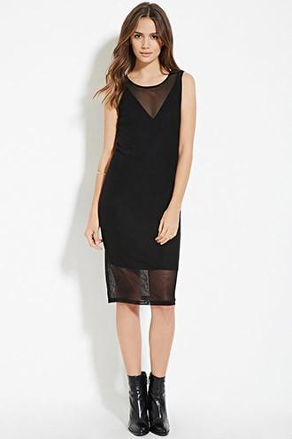 Love21 Women's  Contemporary Layered Mesh Dress