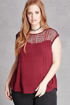 Forever21 Plus Size Crochet Yoke Top